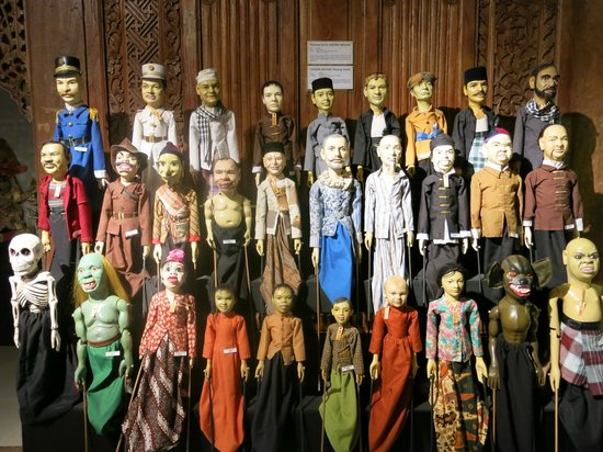 Setia Darma House of Mask and Puppets:                   Cast of a puppet show