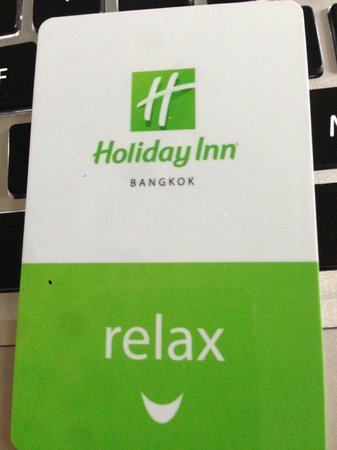 Holiday Inn Bangkok:                   room key