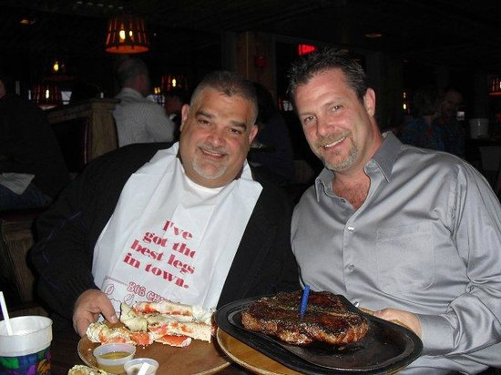 Bob Chinn's Crab House:                   King Crab Legs, and a huge Porterhouse. (brothers)