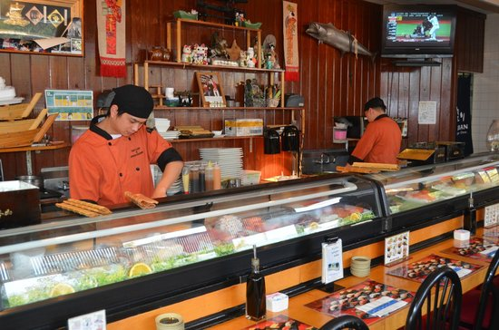 Tony's Sushi : The boys behind the Suschi bar.