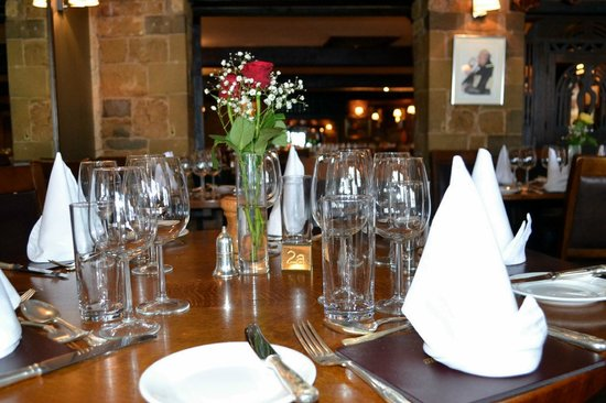 The Butcher's Arms: Table Setting