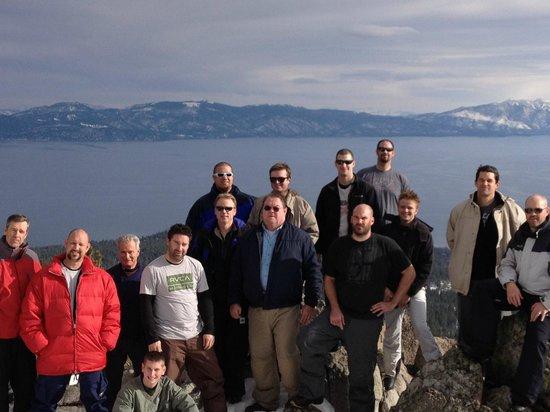 Lake Tahoe Snowmobile Tours:                                     Lake Tahoe vista