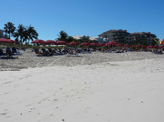 Royal West Indies Resort:                   Beach umbrellas at RWI.