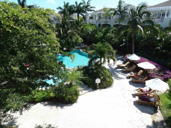 Royal West Indies Resort:                   another view from our corner balcony