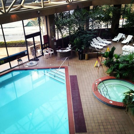 Crystal Gateway Marriott:                   Indoor pool view from 2nd floor