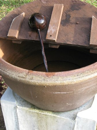 C&N Kho Khao Beach Resort: Water Bowl to wash your feet when you come off the beach