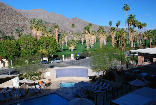 Hyatt Palm Springs:                   Balcony view from our room #306