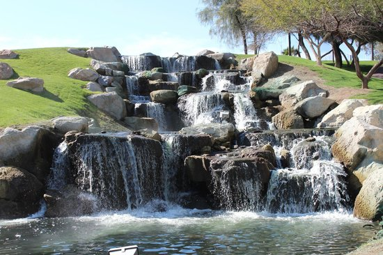 Arizona Grand Resort & Spa :                   waterfall outside our room