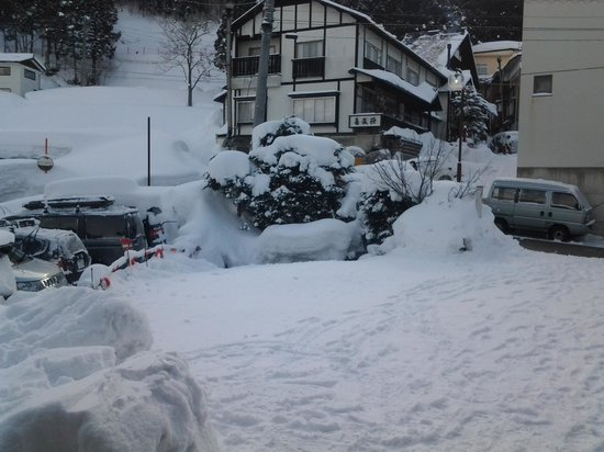 Alpine Villa Nozawa:                   the front yard