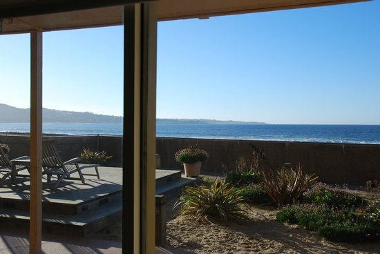Monterey Tides: View from the room without the privacy screen.