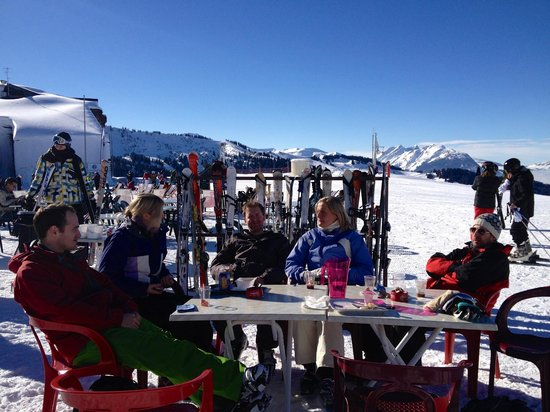 Mimy's Crepes :                                     lunch on the slopes in the sunshine