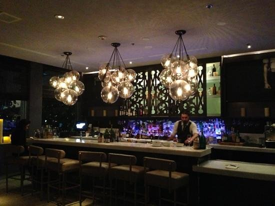 Kimpton Surfcomber Hotel:                   lobby bar at 12 midnight