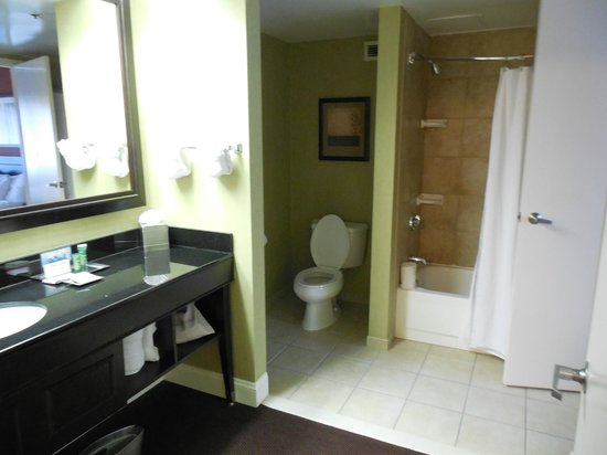Hilton Brentwood/Nashville Suites:                   Bathroom