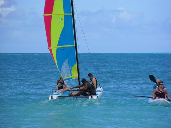 Galley Bay Resort:                   Taking advantage of the onsite water sports activity area