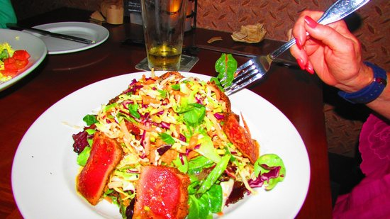 Yard House:                   Asian tuna Sashimi Salad