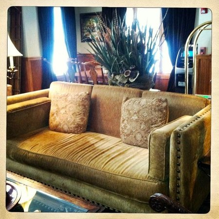 The Hotel Telluride:                   one of the many seating areas in lobby