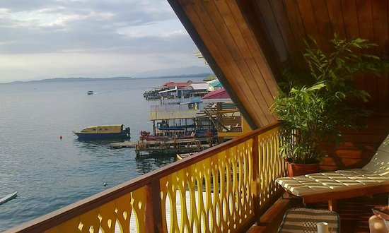 Hotel Bocas del Toro:                   view from room