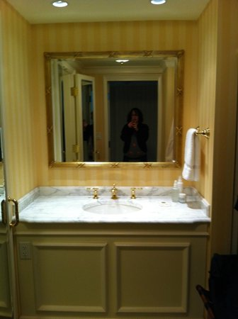 Grand America Hotel:                   First Bathroom Sink