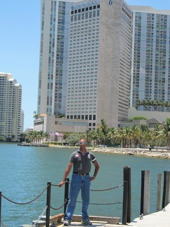 InterContinental Miami:                   On the Riverwalk in front of the hotel