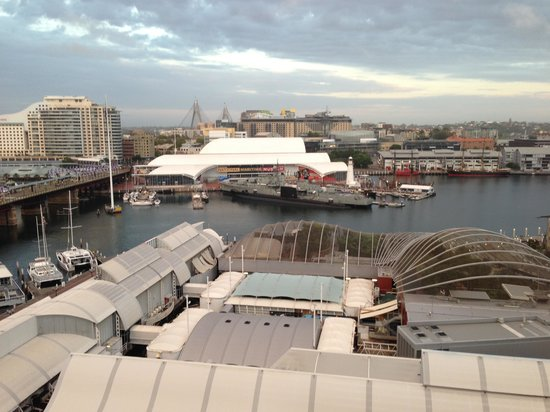 Hyatt Regency Sydney:                   View from a 10th floor harbour view room