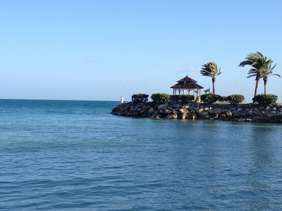 Blue Waters Antigua:                   The pagoda where you can get married