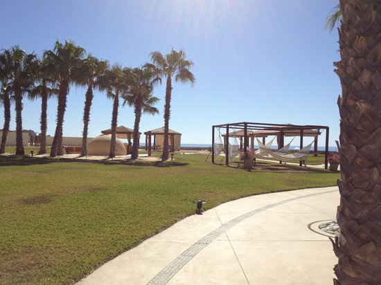 Pueblo Bonito Pacifica Golf & Spa Resort:                                     Hammocks and activity area