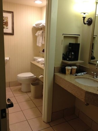 Crowne Plaza Hotel Louisville-Airport KY Expo Center: small bathroom but it was clean