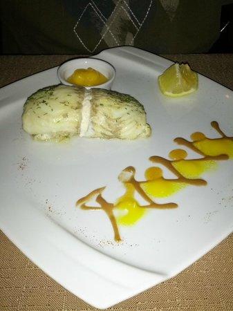 Mangos Restaurant: Rotolo di sogliola ripieno di polpa di granchio