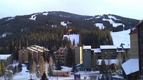 Copper Mountain Ski Area:                   View of mountain looking east towards the top of Super Bee chairlift