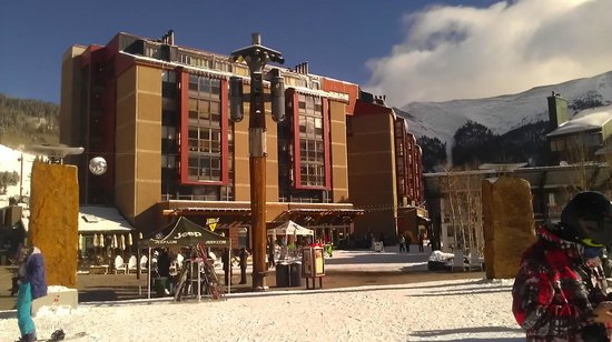 Copper Mountain Ski Area:                   View of Village Square from base of American Eagle