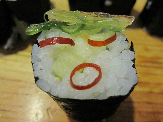Tanuki Sushi Bar & Garden:                                     playing with my food