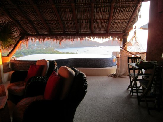 Hotel Cinco Sentidos:                   View from room and plunge pool