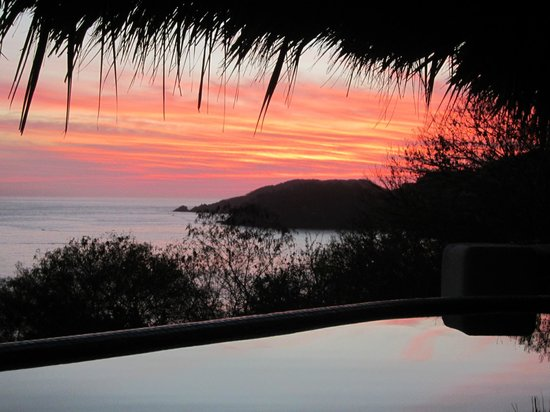 Hotel Cinco Sentidos:                   Sunset from the room