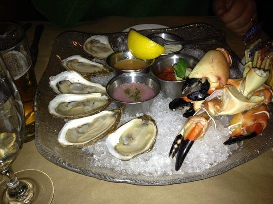 Montauk Seafood Grill:                                     Oyster and Stone Crab Appetizer