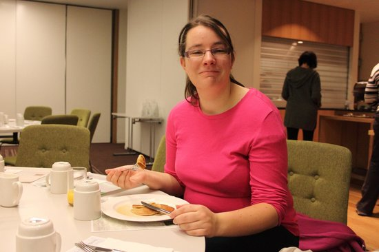 Icelandair Hotel Reykjavik Natura:                   Eating the wonderful pancakes!