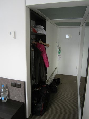 Crowne Plaza Zurich Hotel:                   The only place to hang clothes