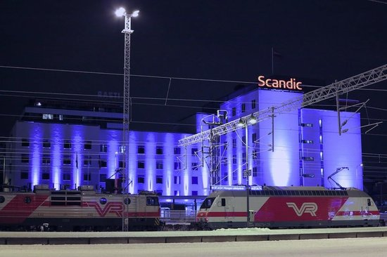 Scandic Tampere Station:                   View from the Railway Station