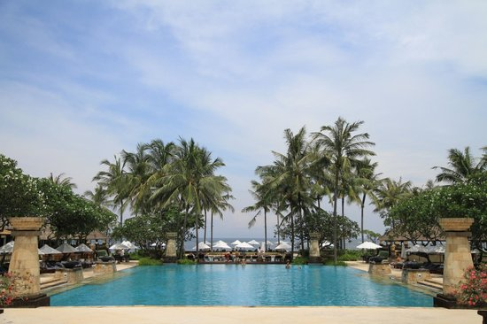 Conrad Bali:                   View from the breakfast area