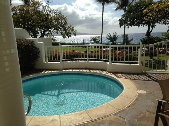 Fairmont Kea Lani, Maui:                   Private Plunge Pool and Lanai View from Villa 7.