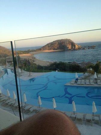 Secrets Huatulco Resort & Spa:                   Balcony view for breakfast