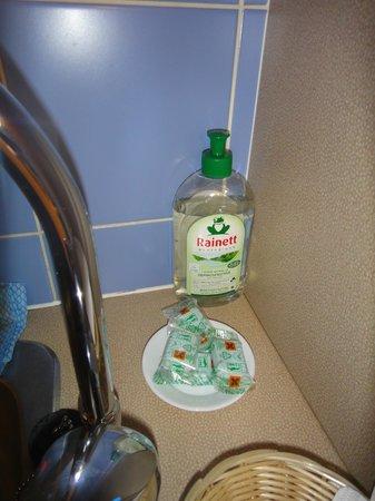 Adagio Aparthotel Val d'Europe: cuisine : produit vaisselle et dosettes lave-vaisselles fournies