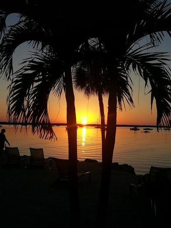 Hampton Inn Key Largo Beach at Sunset