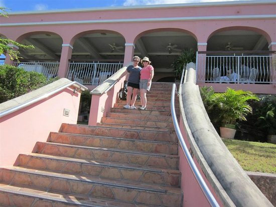 The Buccaneer -- St Croix:                   The last climb up to the Terrace.