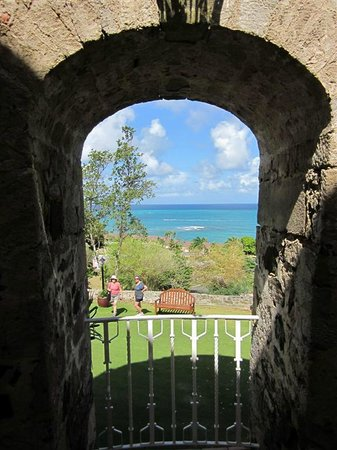 The Buccaneer St Croix:                   Looking out from the Sugar House