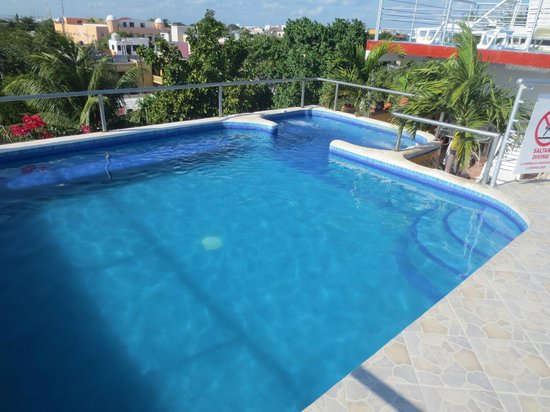 Paraiso Azul's -Casa De Gopala:                   Zwembad en jacuzzi op het dak van het hotel
