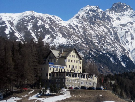 Lake of Staz (Lej da Staz):                   St. Moritz - down by the Lake
