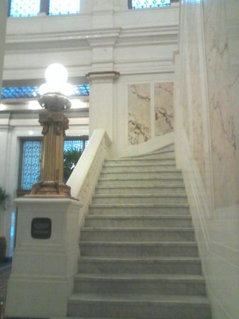 Kimpton Hotel Monaco Baltimore Inner Harbor:                   Historic marble staircase in the Hotel Monaco.