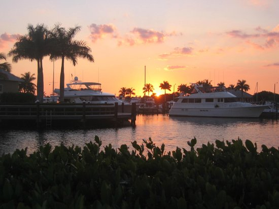 The Westin Cape Coral Resort At Marina Village:                   sunset from Nauti Mermaid