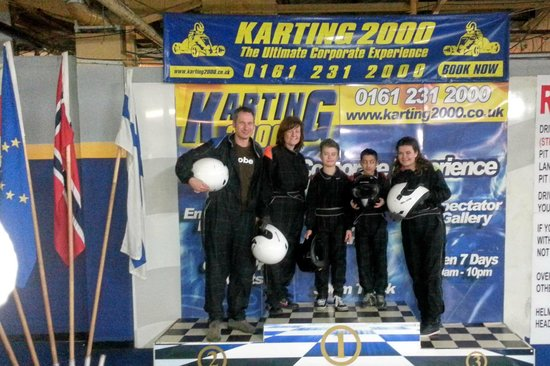 Karting2000:                   On the podium- post Go Karting!