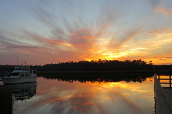 Tallahassee, FL:                   Sunset across the Wakulla River toward Refuge